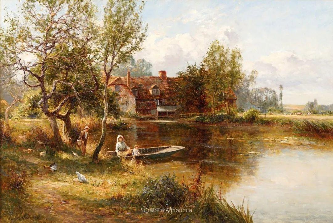 他笔下的绝美乡村景象,真令人向往!英国画家Ernest Charles Walbourn作品(上)插图6