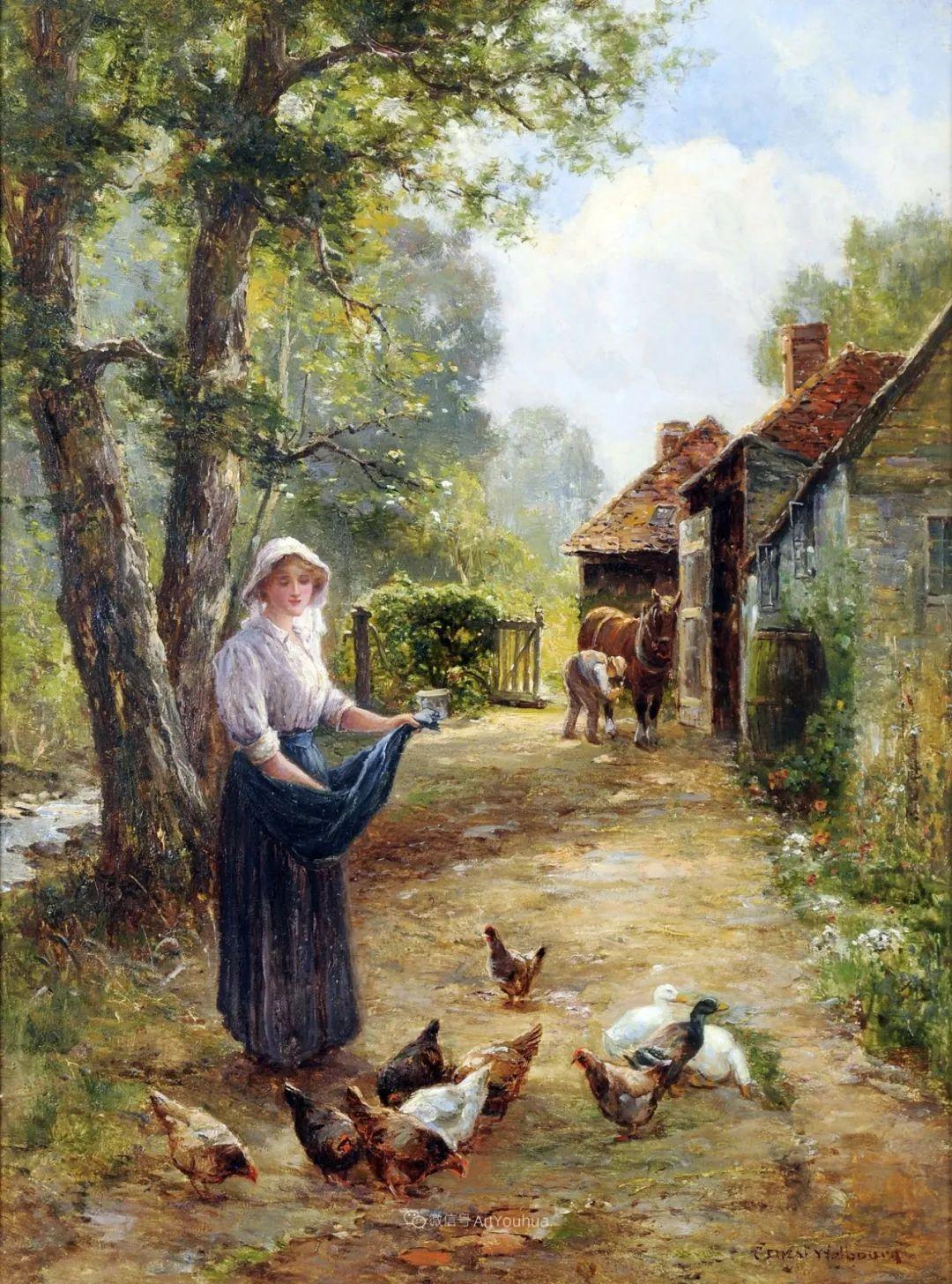 他笔下的绝美乡村景象,真令人向往!英国画家Ernest Charles Walbourn作品(上)插图7