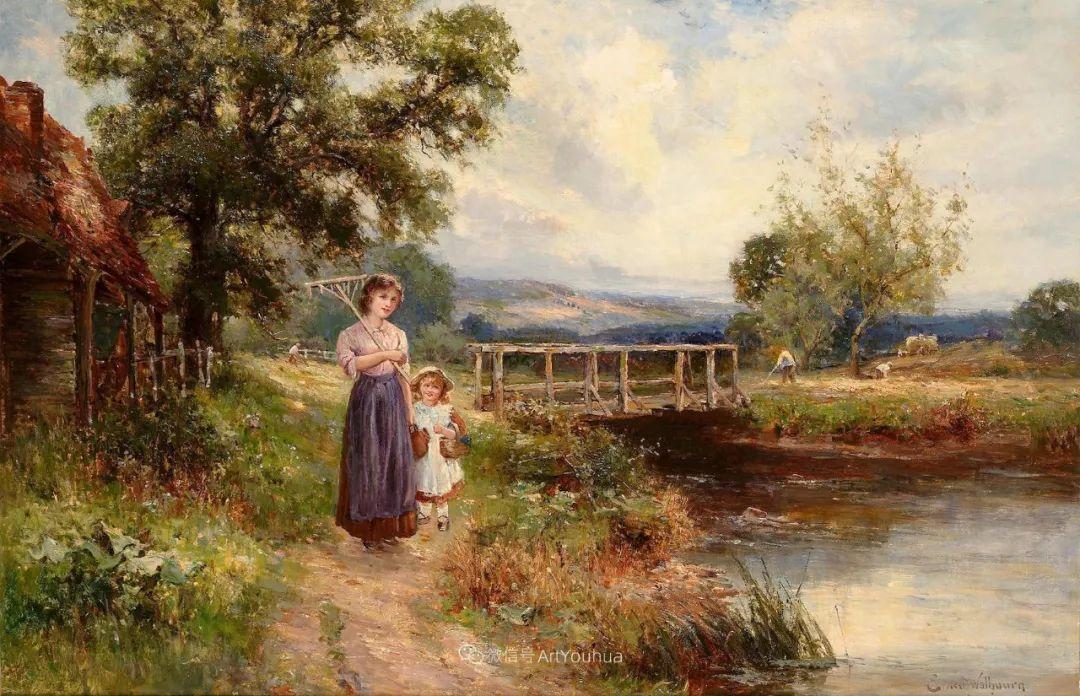 他笔下的绝美乡村景象,真令人向往!英国画家Ernest Charles Walbourn作品(上)插图8
