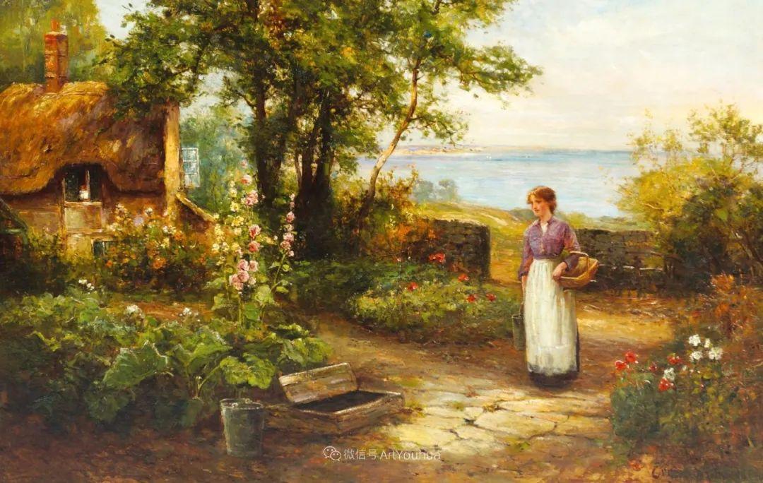 他笔下的绝美乡村景象,真令人向往!英国画家Ernest Charles Walbourn作品(上)插图10