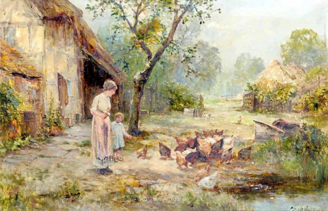 他笔下的绝美乡村景象,真令人向往!英国画家Ernest Charles Walbourn作品(上)插图11