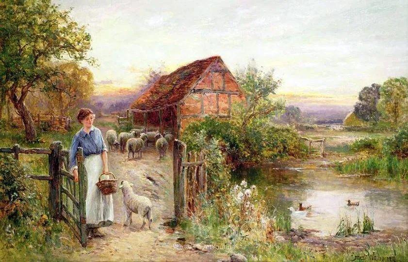 他笔下的绝美乡村景象,真令人向往!英国画家Ernest Charles Walbourn作品(上)插图12