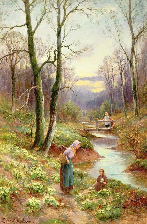 他笔下的绝美乡村景象,真令人向往!英国画家Ernest Charles Walbourn作品(上)插图13