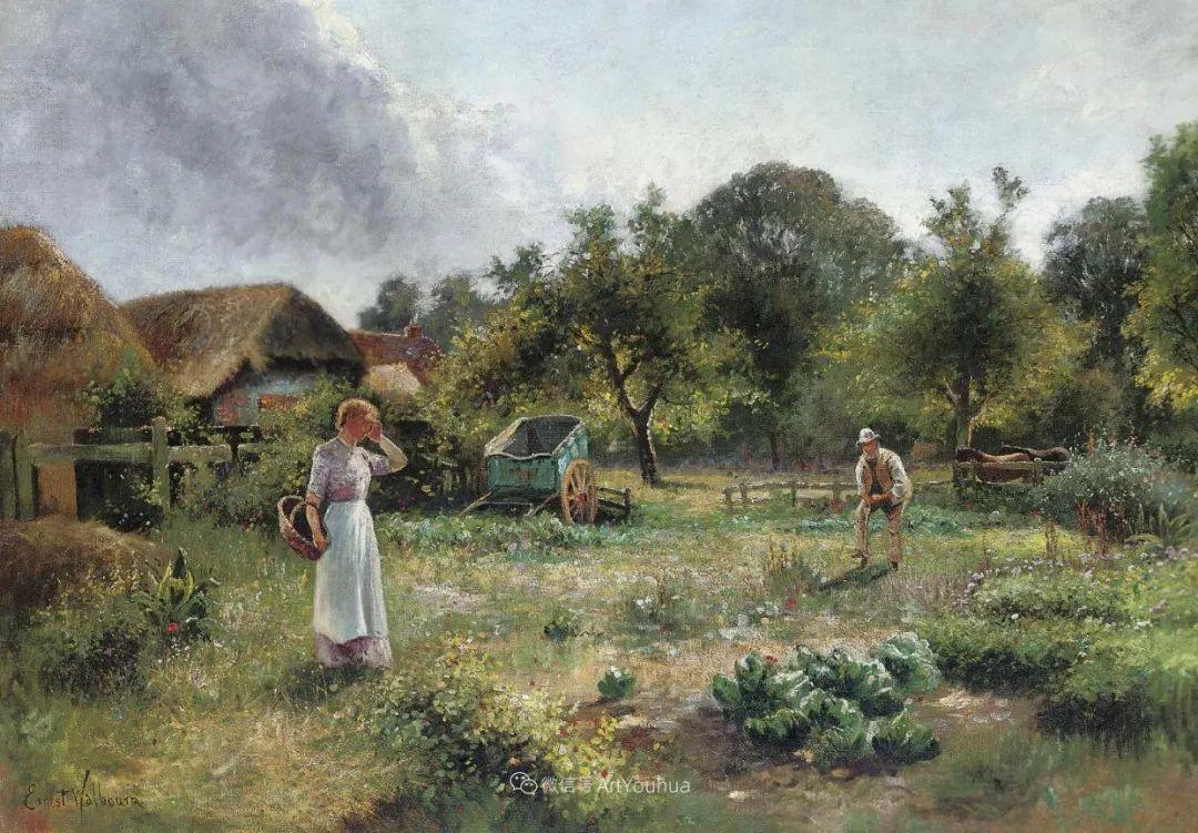 他笔下的绝美乡村景象,真令人向往!英国画家Ernest Charles Walbourn作品(上)插图14