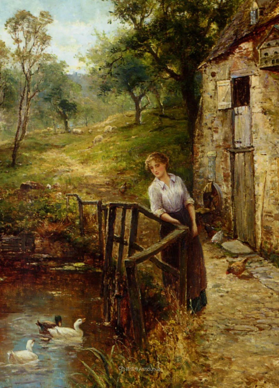他笔下的绝美乡村景象,真令人向往!英国画家Ernest Charles Walbourn作品(上)插图15