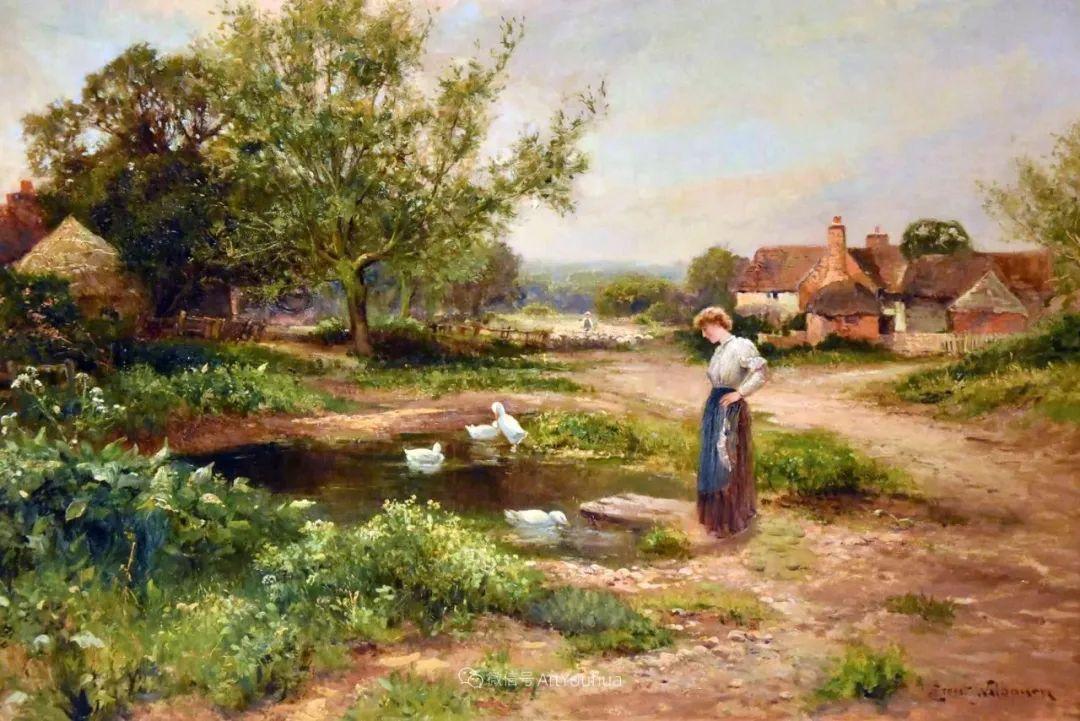 他笔下的绝美乡村景象,真令人向往!英国画家Ernest Charles Walbourn作品(上)插图16