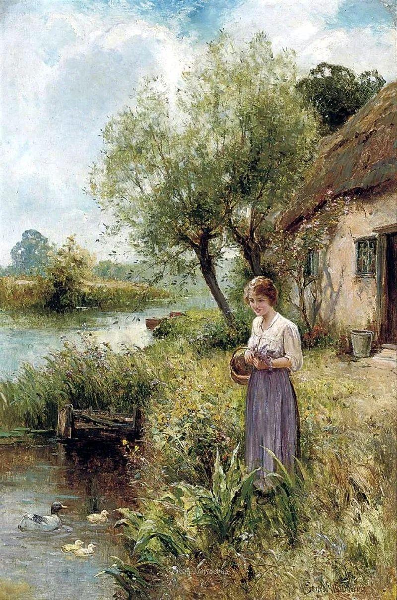 他笔下的绝美乡村景象,真令人向往!英国画家Ernest Charles Walbourn作品(上)插图17