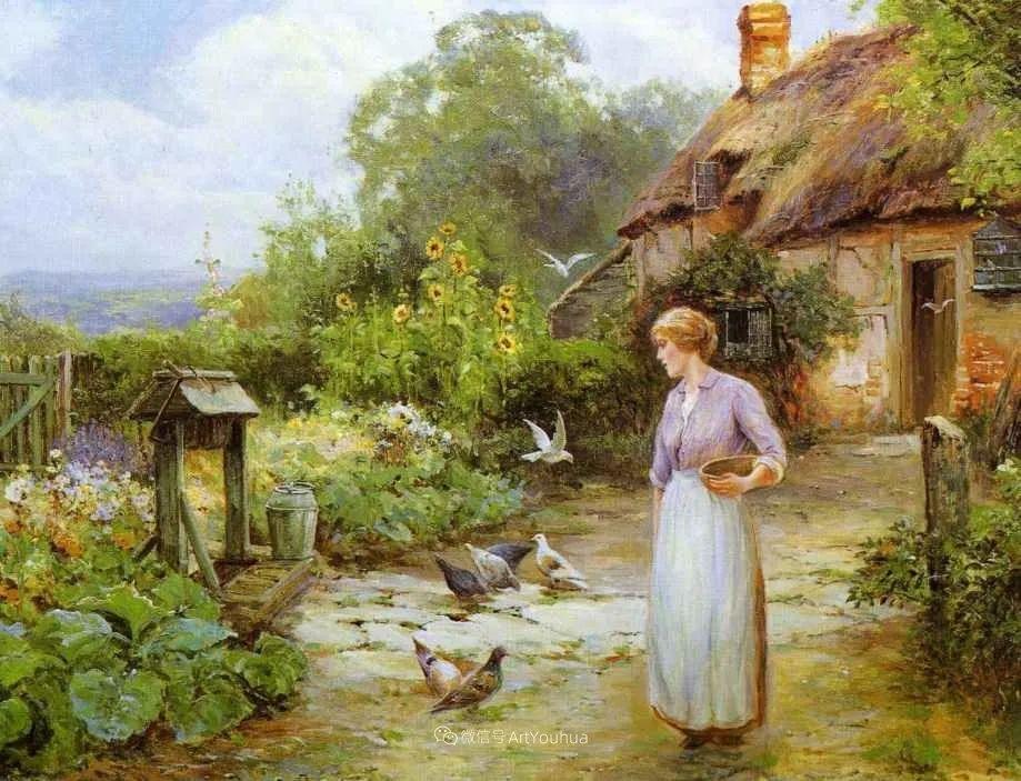 他笔下的绝美乡村景象,真令人向往!英国画家Ernest Charles Walbourn作品(上)插图18