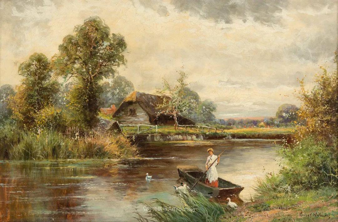 他笔下的绝美乡村景象,真令人向往!英国画家Ernest Charles Walbourn作品(上)插图19