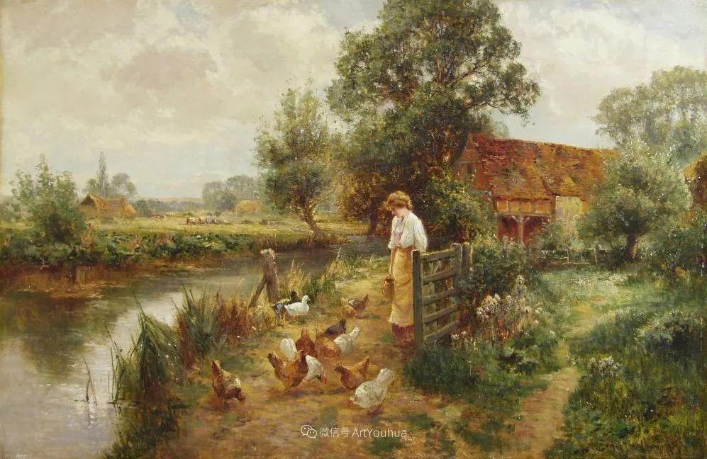 他笔下的绝美乡村景象,真令人向往!英国画家Ernest Charles Walbourn作品(上)插图22