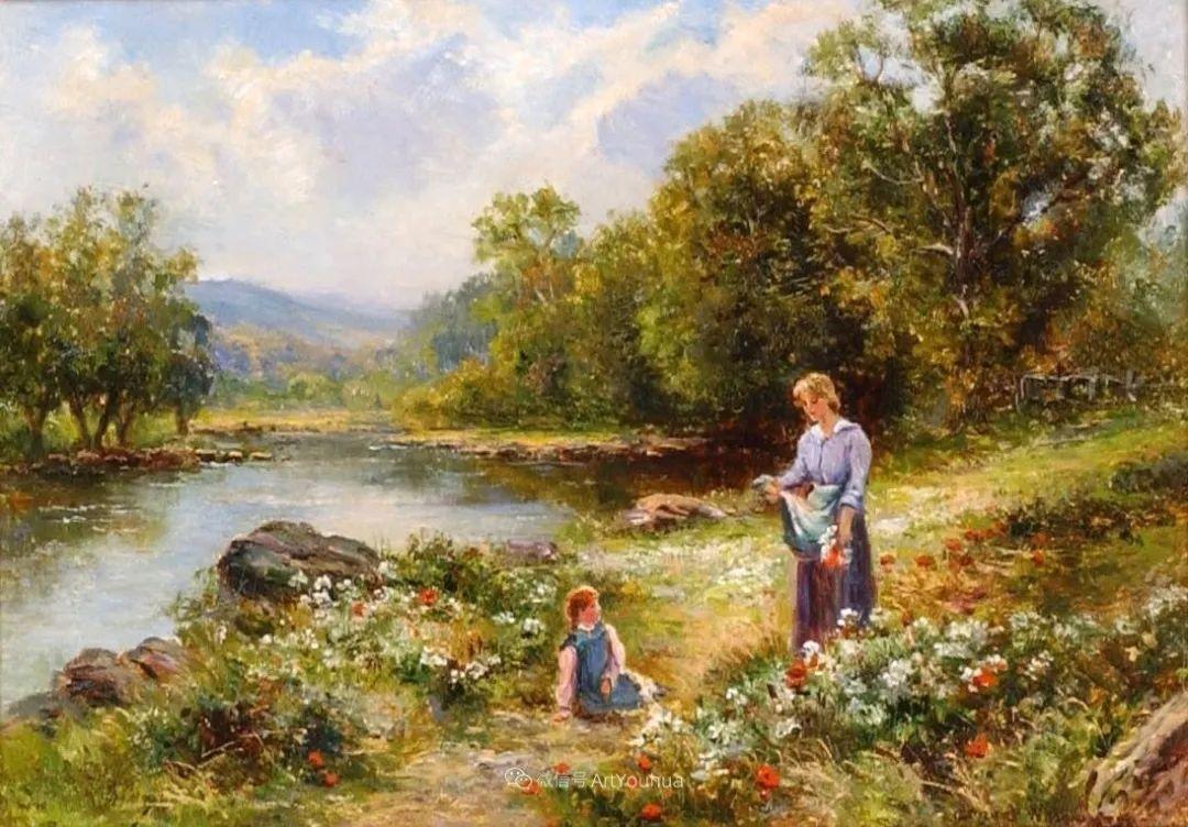 他笔下的绝美乡村景象,真令人向往!英国画家Ernest Charles Walbourn作品(上)插图23