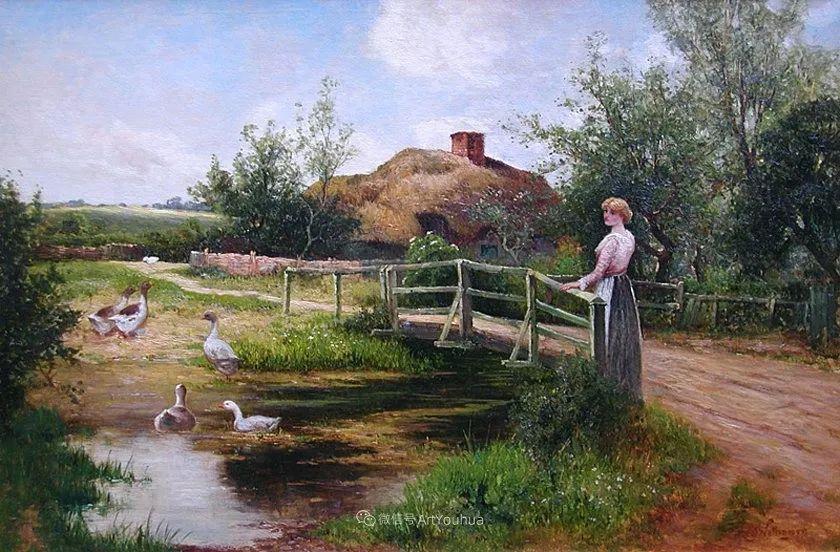 他笔下的绝美乡村景象,真令人向往!英国画家Ernest Charles Walbourn作品(上)插图24