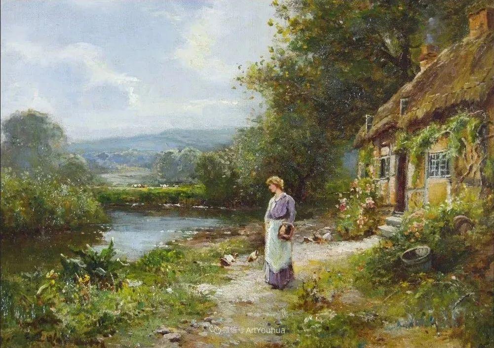 他笔下的绝美乡村景象,真令人向往!英国画家Ernest Charles Walbourn作品(上)插图25