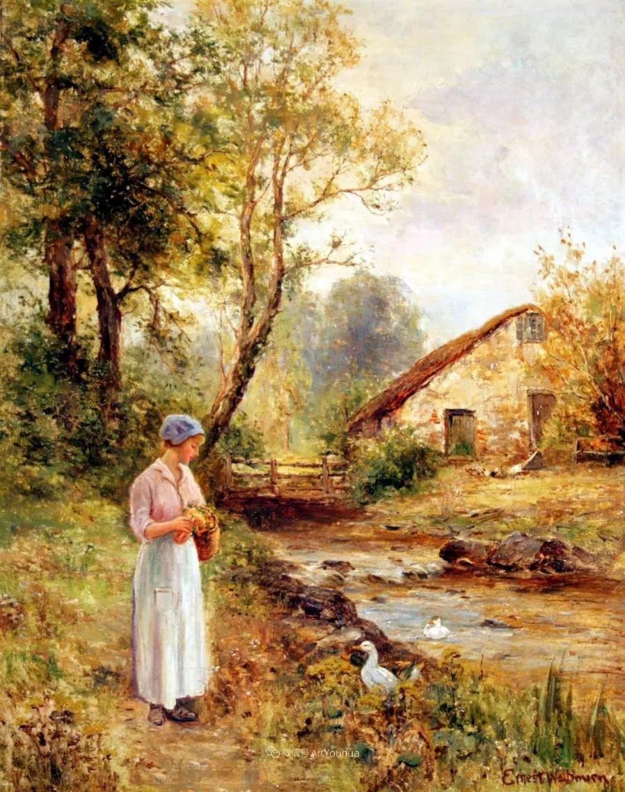 他笔下的绝美乡村景象,真令人向往!英国画家Ernest Charles Walbourn作品(上)插图26