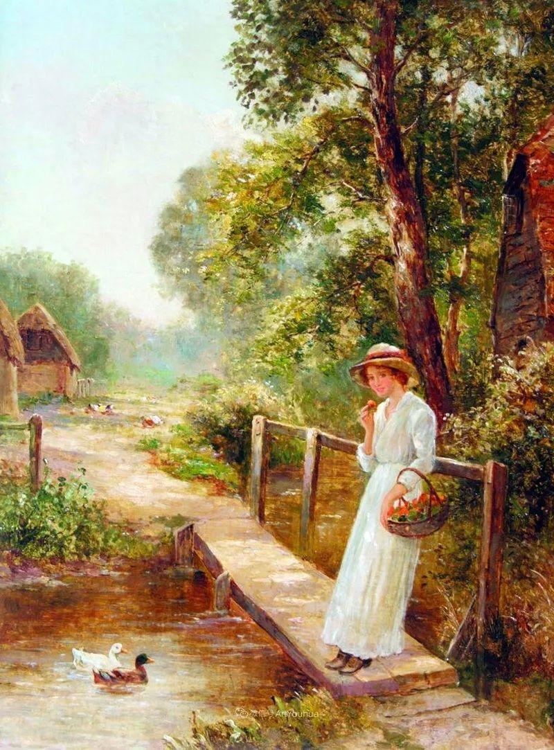他笔下的绝美乡村景象,真令人向往!英国画家Ernest Charles Walbourn作品(上)插图27