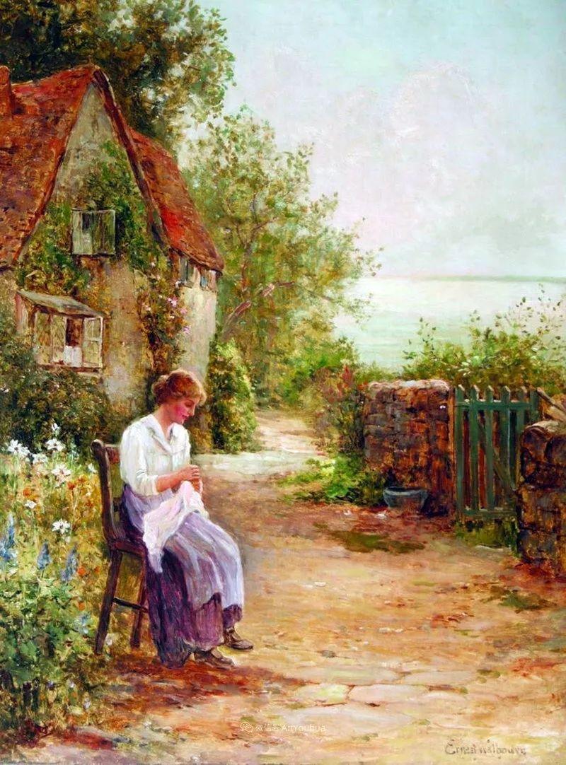 他笔下的绝美乡村景象,真令人向往!英国画家Ernest Charles Walbourn作品(上)插图28