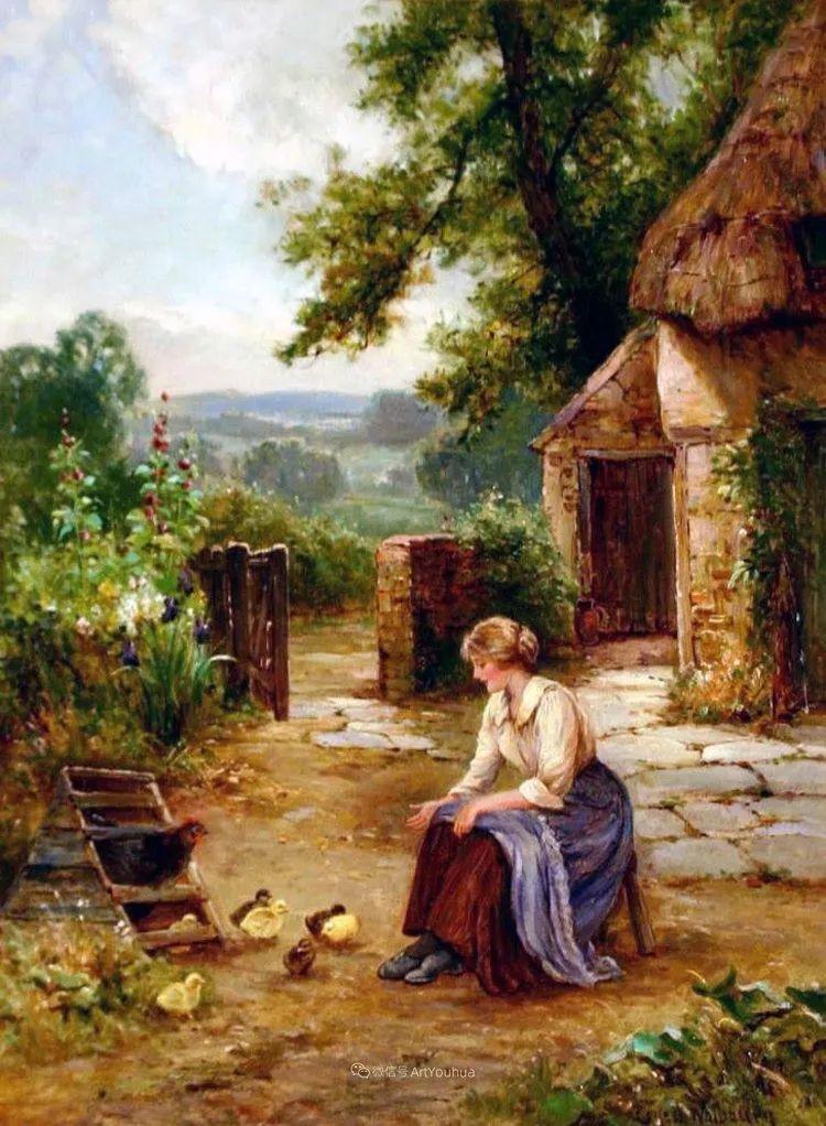 他笔下的绝美乡村景象,真令人向往!英国画家Ernest Charles Walbourn作品(上)插图29