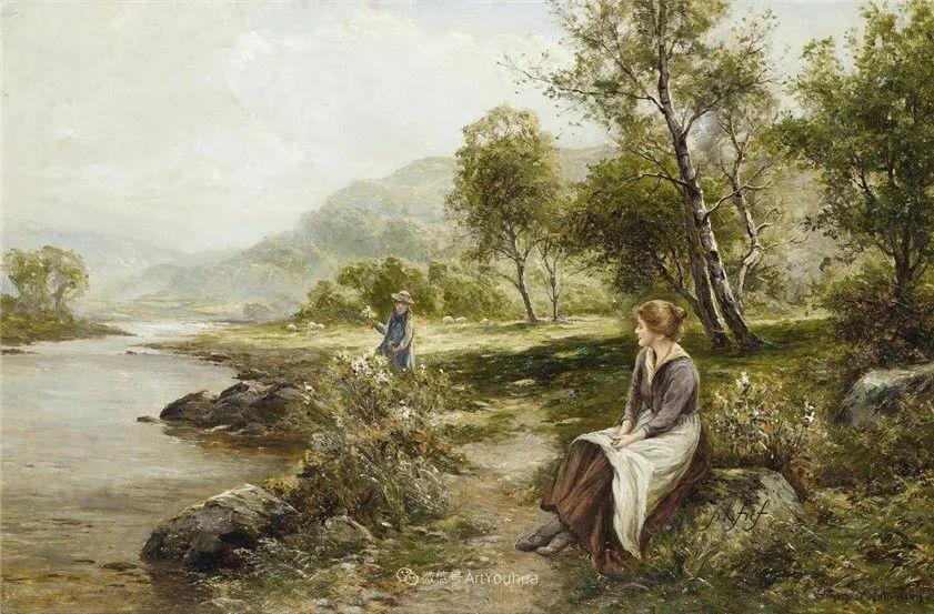 他笔下的绝美乡村景象,真令人向往!英国画家Ernest Charles Walbourn作品(上)插图33