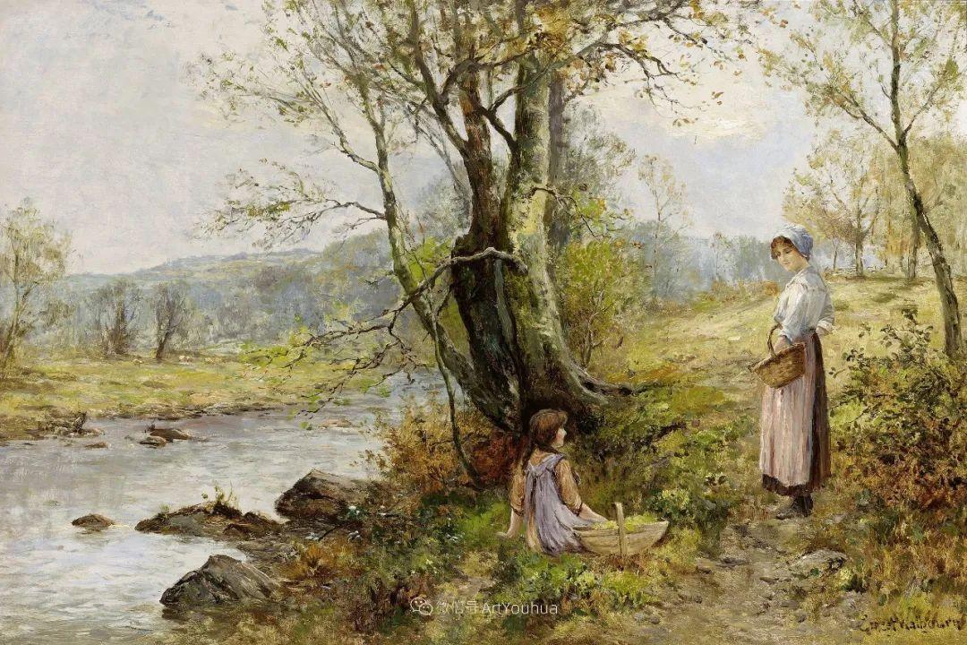 他笔下的绝美乡村景象,真令人向往!英国画家Ernest Charles Walbourn作品(上)插图34
