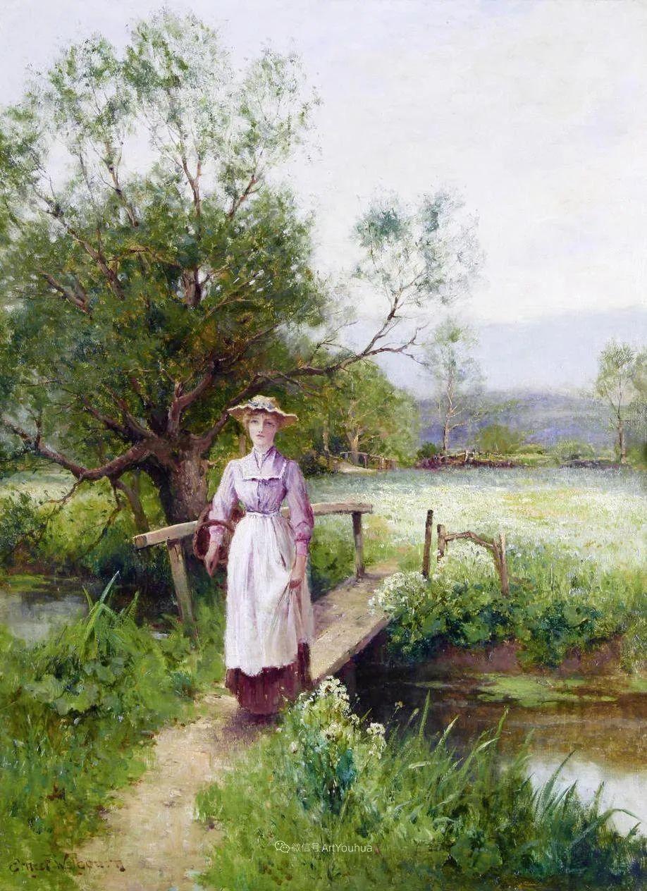 他笔下的绝美乡村景象,真令人向往!英国画家Ernest Charles Walbourn作品(上)插图35