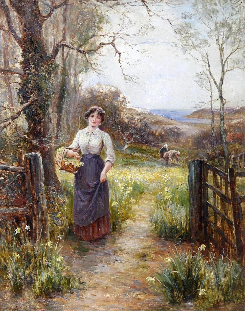 他笔下的绝美乡村景象,真令人向往!英国画家Ernest Charles Walbourn作品(上)插图36