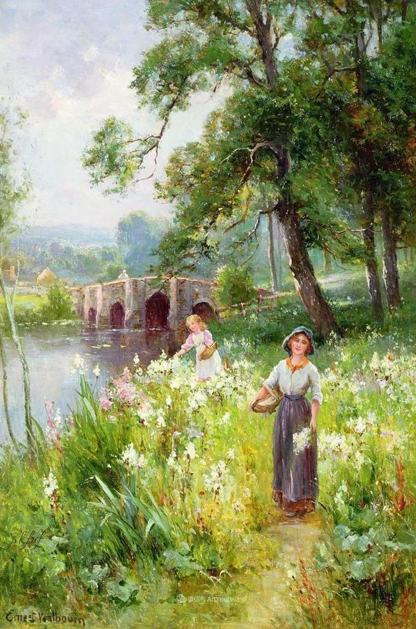 他笔下的绝美乡村景象,真令人向往!英国画家Ernest Charles Walbourn作品(上)插图37