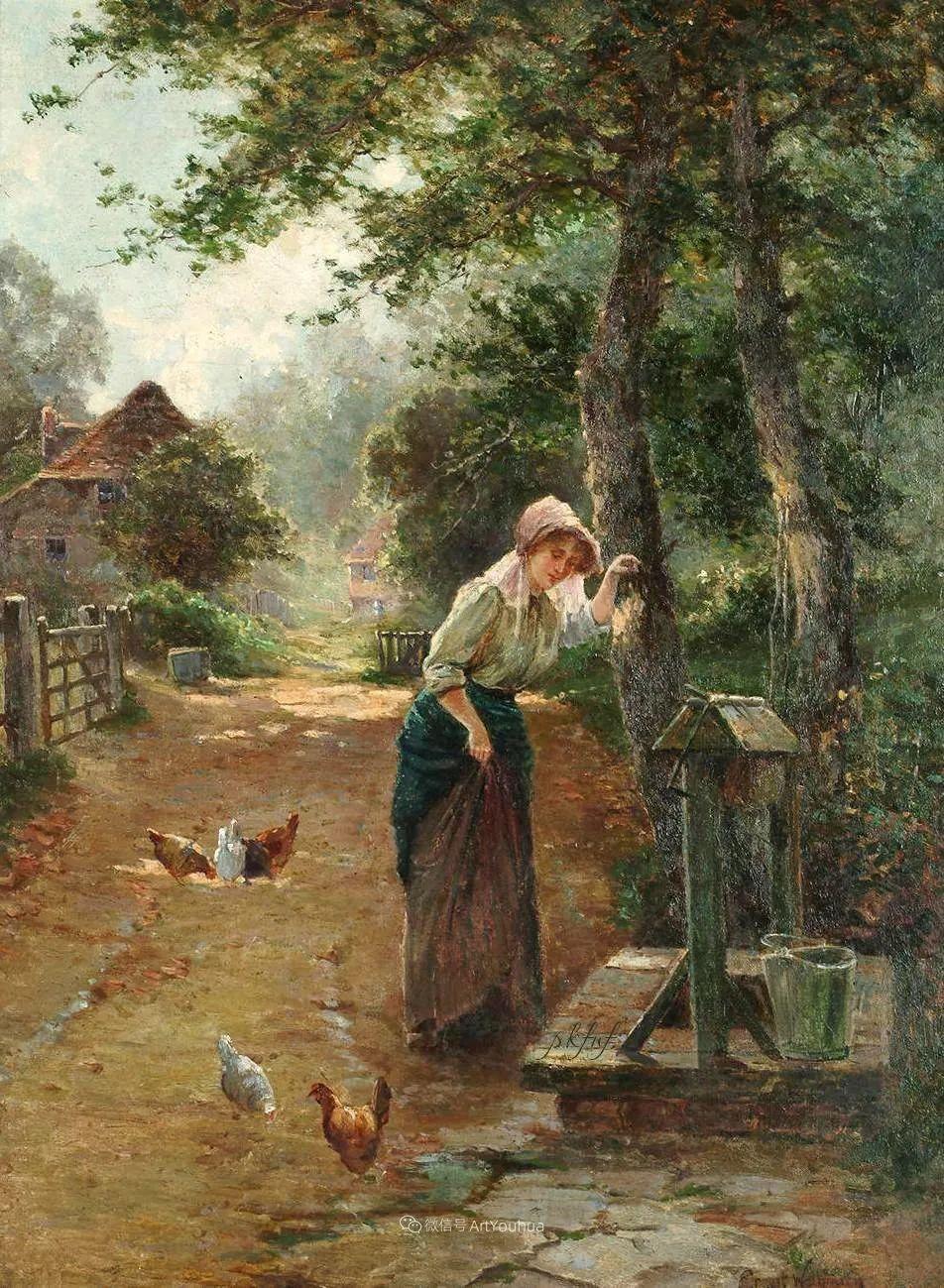 他笔下的绝美乡村景象,真令人向往!英国画家Ernest Charles Walbourn作品(上)插图38