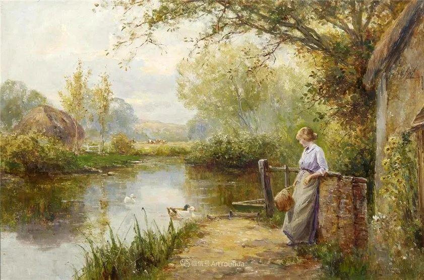 他笔下的绝美乡村景象,真令人向往!英国画家Ernest Charles Walbourn作品(上)插图41