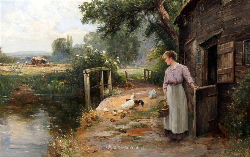 他笔下的绝美乡村景象,真令人向往!英国画家Ernest Charles Walbourn作品(上)插图43