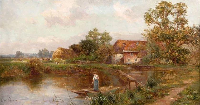 他笔下的绝美乡村景象,真令人向往!英国画家Ernest Charles Walbourn作品(上)插图46