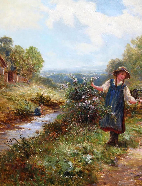 他笔下的绝美乡村景象,真令人向往!英国画家Ernest Charles Walbourn作品(上)插图47