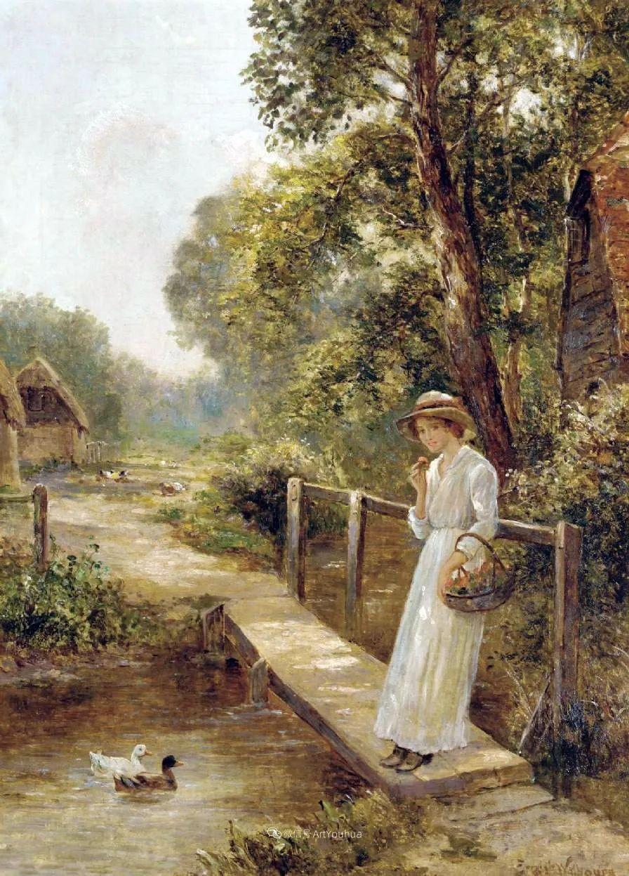 他笔下的绝美乡村景象,真令人向往!英国画家Ernest Charles Walbourn作品(上)插图48