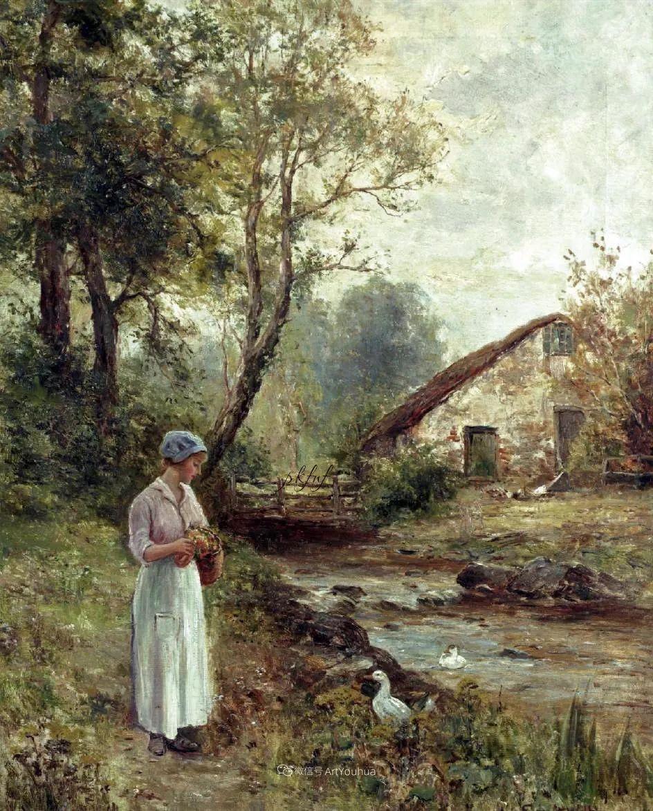 他笔下的绝美乡村景象,真令人向往!英国画家Ernest Charles Walbourn作品(上)插图49
