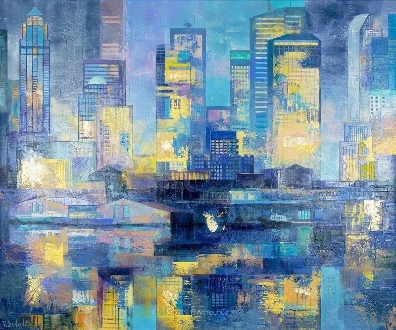 她画的建筑,色彩太迷人了!捷克女艺术家维罗妮卡·贝诺尼插图