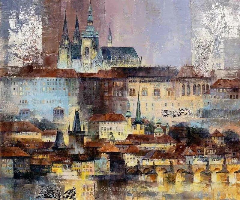 她画的建筑,色彩太迷人了!捷克女艺术家维罗妮卡·贝诺尼插图1