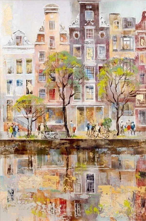 她画的建筑,色彩太迷人了!捷克女艺术家维罗妮卡·贝诺尼插图2