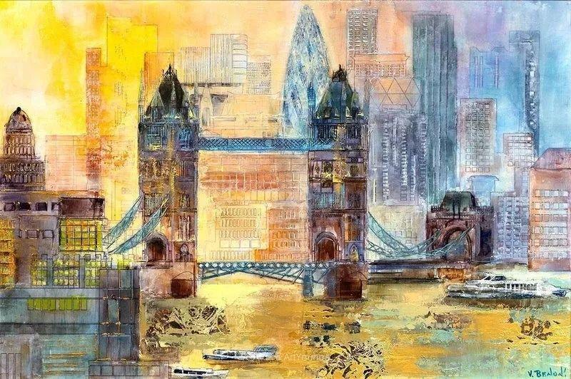 她画的建筑,色彩太迷人了!捷克女艺术家维罗妮卡·贝诺尼插图6