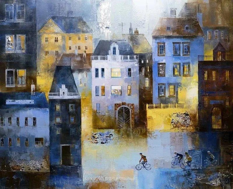 她画的建筑,色彩太迷人了!捷克女艺术家维罗妮卡·贝诺尼插图7