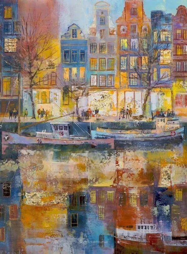 她画的建筑,色彩太迷人了!捷克女艺术家维罗妮卡·贝诺尼插图10