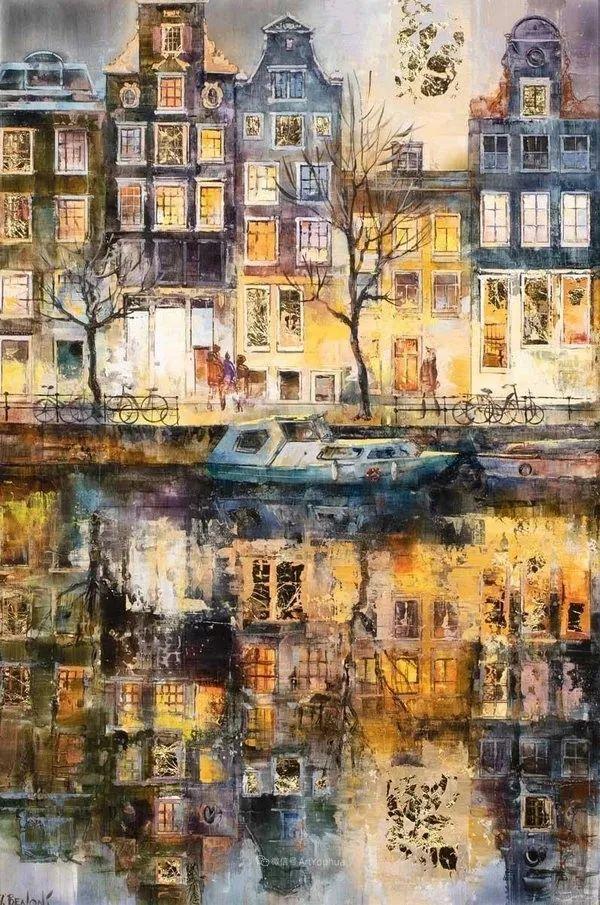 她画的建筑,色彩太迷人了!捷克女艺术家维罗妮卡·贝诺尼插图12