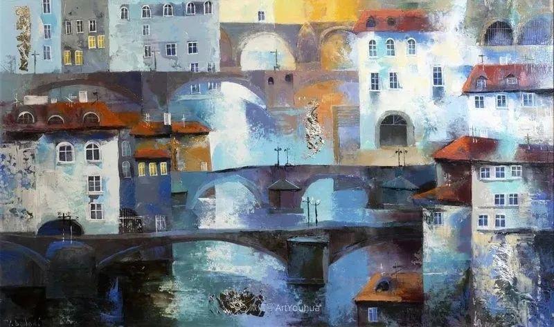 她画的建筑,色彩太迷人了!捷克女艺术家维罗妮卡·贝诺尼插图14