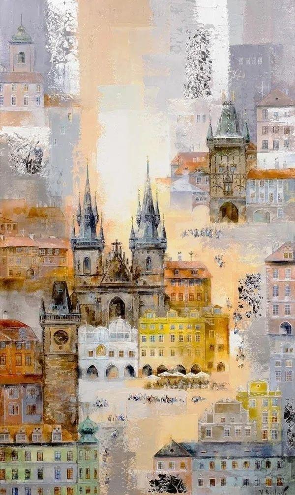 她画的建筑,色彩太迷人了!捷克女艺术家维罗妮卡·贝诺尼插图16