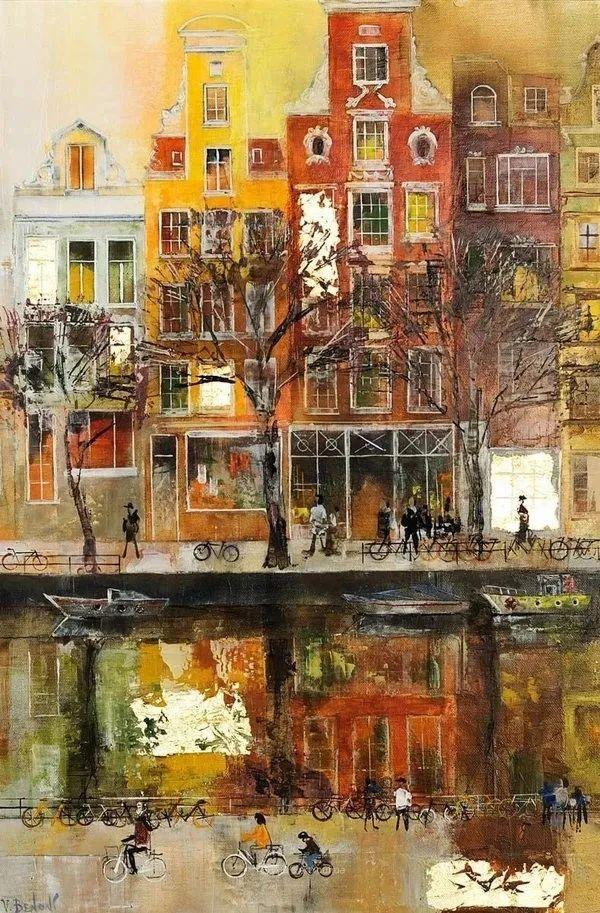 她画的建筑,色彩太迷人了!捷克女艺术家维罗妮卡·贝诺尼插图17