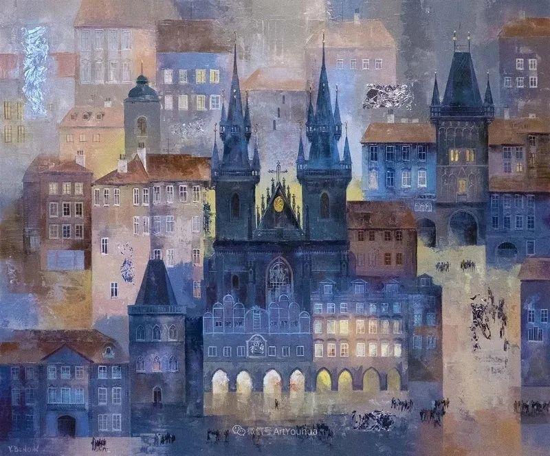 她画的建筑,色彩太迷人了!捷克女艺术家维罗妮卡·贝诺尼插图22