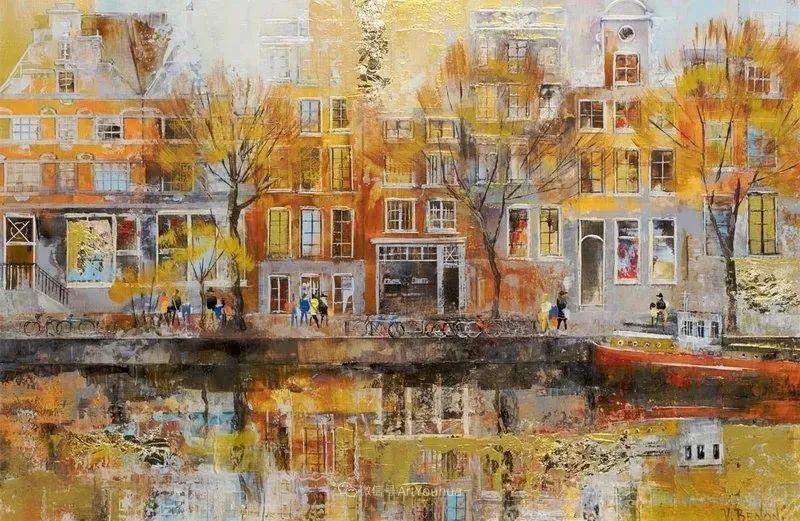 她画的建筑,色彩太迷人了!捷克女艺术家维罗妮卡·贝诺尼插图24