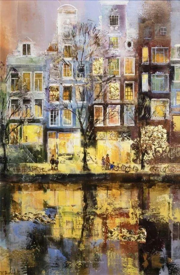 她画的建筑,色彩太迷人了!捷克女艺术家维罗妮卡·贝诺尼插图25