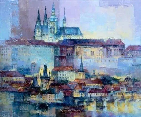 她画的建筑,色彩太迷人了!捷克女艺术家维罗妮卡·贝诺尼插图26