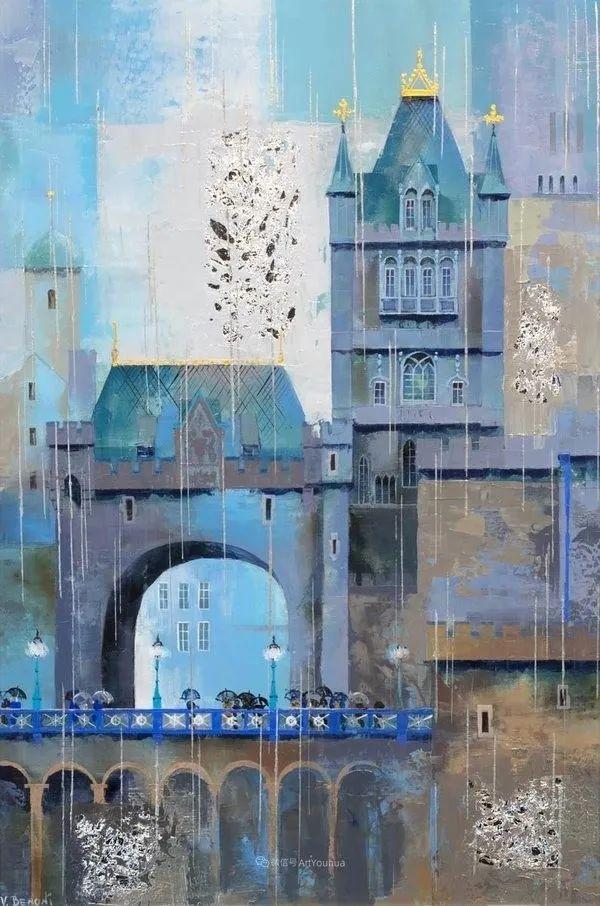 她画的建筑,色彩太迷人了!捷克女艺术家维罗妮卡·贝诺尼插图32