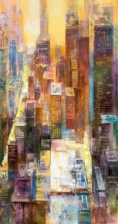她画的建筑,色彩太迷人了!捷克女艺术家维罗妮卡·贝诺尼插图33