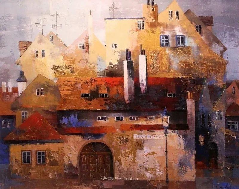 她画的建筑,色彩太迷人了!捷克女艺术家维罗妮卡·贝诺尼插图41